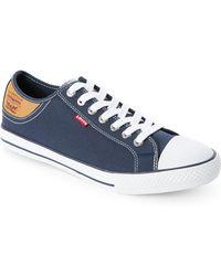 Appealing Mens Sneakers Levi s Stan Buck Charcoal Brown