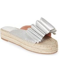 Sigerson Morrison - Silver Verane Platform Espadrille Sandals - Lyst