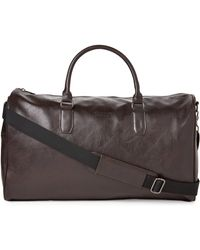 Kenneth Cole Reaction - Brown Echo Leather Duffel - Lyst