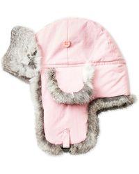 Crown Cap - Real Rabbit Fur Trapper Hat - Lyst