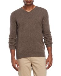 Forte - Classic V-neck Cashmere Sweater - Lyst