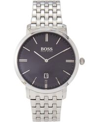 BOSS - 1513536 Tradition Silver-tone Watch - Lyst
