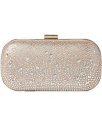Jessica Mcclintock - Rose Gold Emme Sparkle Convertible Clutch - Lyst