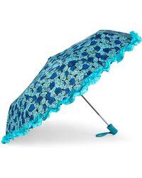 Betsey Johnson - Multi Pattern Auto Open Umbrella - Lyst