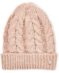 Laundry by Shelli Segal - Cable Knit Hat - Lyst
