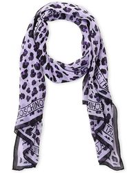 Boutique Moschino - Animal Print Silk Scarf - Lyst