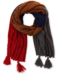 Collection 18 - Oversized Color Block Knit Scarf - Lyst