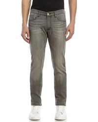 Avelon - Grey Pop Slim Fit Jeans - Lyst