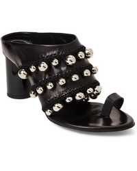 Proenza Schouler - Black Pom-pom Crochet Mule Sandals - Lyst
