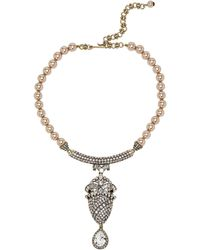 Heidi Daus - Ultimate Eloquence Faux Pearl Statement Necklace - Lyst