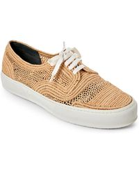 Robert Clergerie - Natural Woven Raffia Sneakers - Lyst