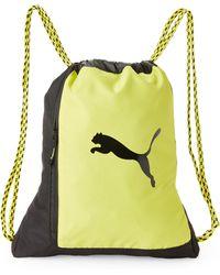 PUMA - Lime & Black Runway Carrysack - Lyst