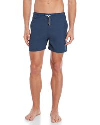 Solid & Striped - Navy The Classic Solid Swim Trunks - Lyst