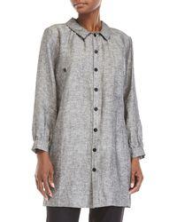 Le Mont St Michel | Grey Linen Jacket | Lyst