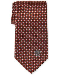 Versace - Basket Parquet Silk Tie - Lyst