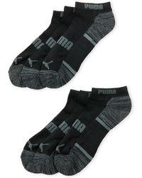 31dbb0027c44 Lyst - Puma Bamboo Women s Liner Socks (3 Pack) in Black