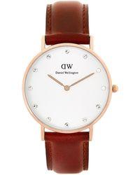 Daniel Wellington - Dw00100075 Brown & Rose Gold-tone Classy St Mawes Watch - Lyst