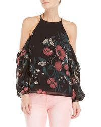 Bardot - Cold Shoulder Floral Top - Lyst