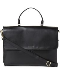Kenneth Cole Reaction - Black Bag-two-differ Faux Leather Computer Case - Lyst