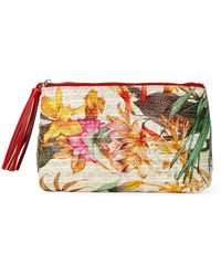 Imoshion - Floral Raffia Straw Cosmetic Bag - Lyst