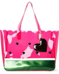 Betsey Johnson - Pink Watermelon Clear Pvc Beach Tote - Lyst