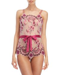 Rya Collection - Plum Passion Belted Teddy - Lyst