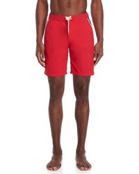 Solid & Striped - Red Piped Board Shorts - Lyst