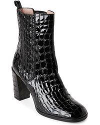 Aperlai - Croc Embossed Heeled Chelsea Boots - Lyst