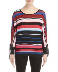 Desigual - Layla Striped Dolman Sleeve Sweater - Lyst