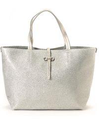 Ferragamo - Silver Tote Bag - Vintage - Lyst
