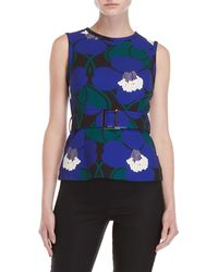 P.A.R.O.S.H. - Floral Belted Top - Lyst