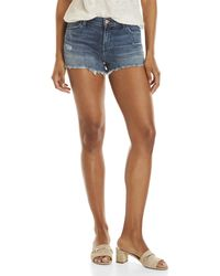 J Brand - Distressed Mid-rise Denim Shorts - Lyst