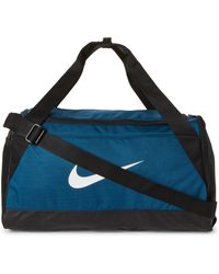 Nike - Blue & Black Brasilia Small Duffel - Lyst