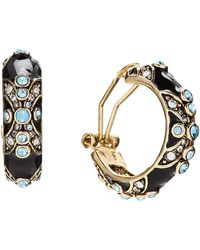 Heidi Daus - Newport Chic Enamel & Crystal Hoop Earrings - Lyst