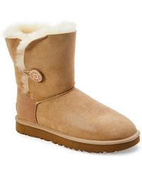 UGG - Sand Bailey Button Ii Real Fur Boots - Lyst