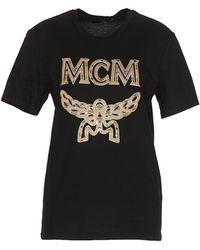 2c1ecf0e7 MCM - Crewneck Logo Print T-shirt - Lyst