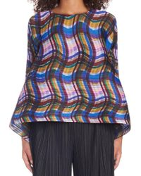 Pleats Please Issey Miyake - 'stratum Bounce' Top - Lyst