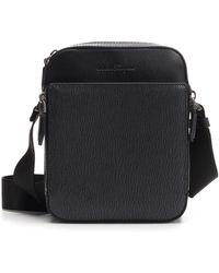 Ferragamo - Textured Leather Shoulder Bag - Lyst