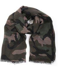 Valentino - Garavani Camouflage Print Scarf - Lyst