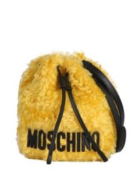 Moschino - Furry Satchel Tote - Lyst