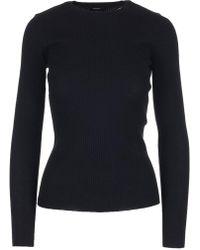 Theory - Mirzi Ribbed Longsleeve Shirt - Lyst