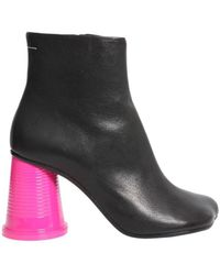 MM6 by Maison Martin Margiela - Contrast Heel Ankle Boots - Lyst