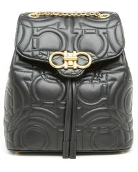 Ferragamo - Gancini Quilted Backpack - Lyst
