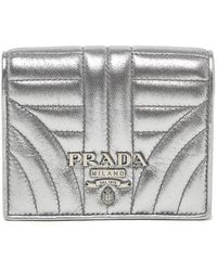 Prada - Diagramme Bifold Wallet - Lyst