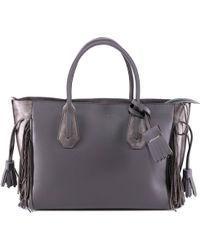 Longchamp Tassel Top Handle Tote Bag