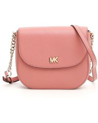 413f8a41f2a525 Lyst - MICHAEL Michael Kors Mini Mott Crossbody Bag in Pink