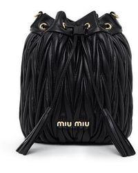 Miu Miu Planet-print Canvas Backpack in Black - Lyst a5d7de05175ac
