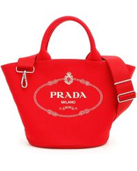 063480d6ccf4 Lyst - Prada Nappa Gaufre Shopping Bag in Green