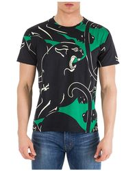 bcca2b00 Valentino Panther Shoulder Print T-shirt in Blue for Men - Lyst