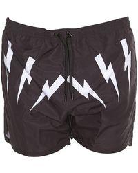 Neil Barrett - Lightning Bolt Swimming Shorts - Lyst